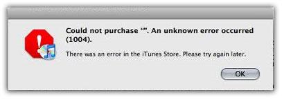 iTunes Error 1004