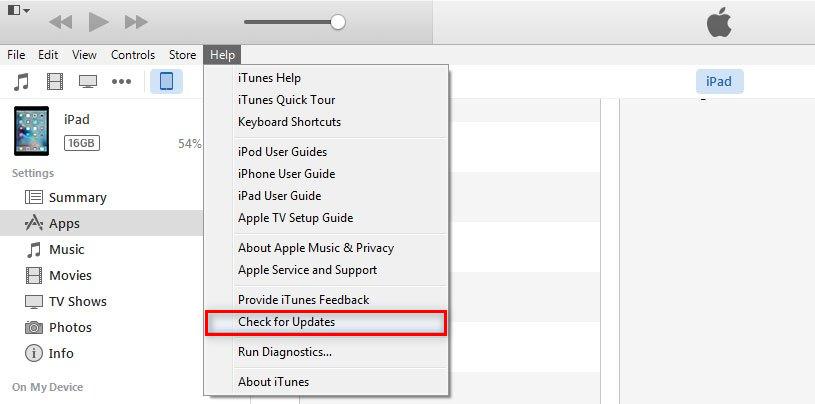 Fix iTunes Error 13 - Update iTunes to the Latest Version