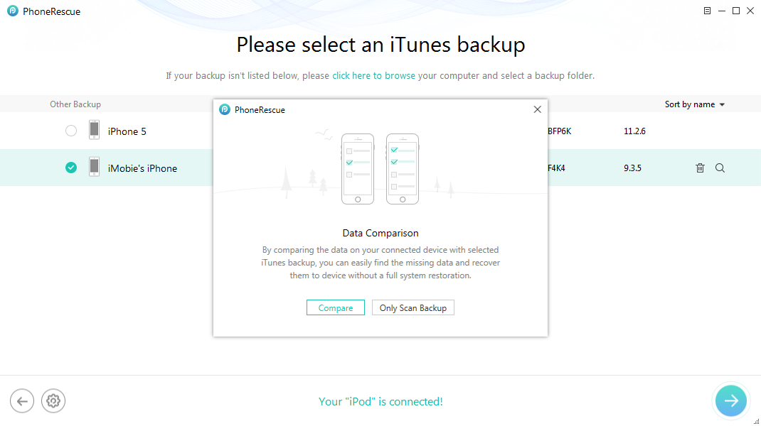 Solutions to iTunes Error 1611 - Step 2