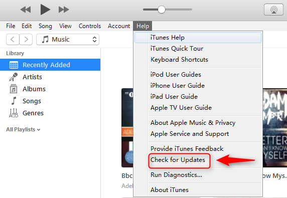 Fix iTunes Error 23 by Updating iTunes to the Latest Version