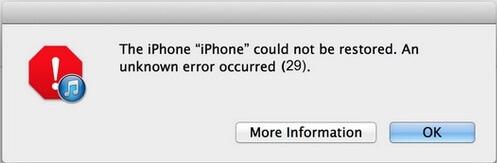 How to Fix iTunes Error 29