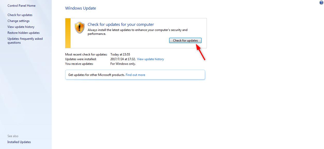 Fix iTunes Error 3015 - Update Windows System