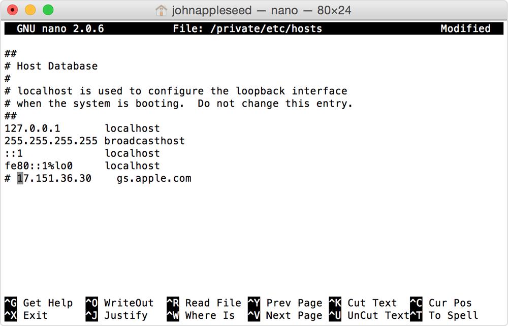 Fix iTunes Error 3015 - Check Host Files On Mac