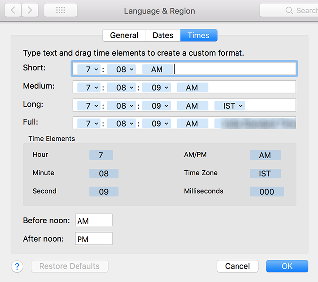Adjust date and time on Mac