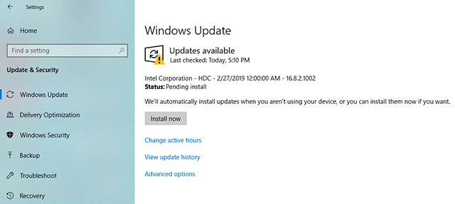 Install Windows updates on your PC