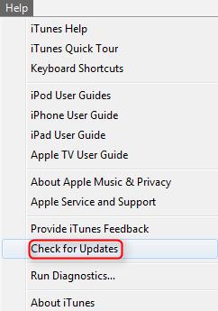 Fix iTunes Error 3169 - Update iTunes to Current Version