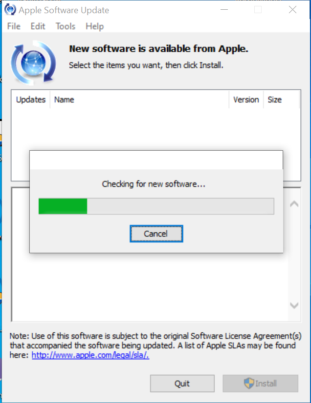 Use Apple Software Update to Update iTunes