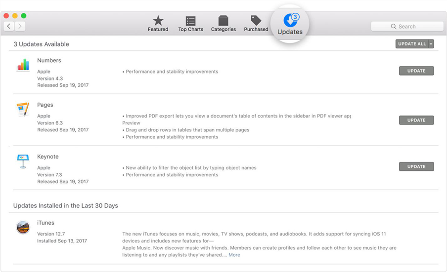 Fix iTunes Error 4013 via Update iTunes on Mac