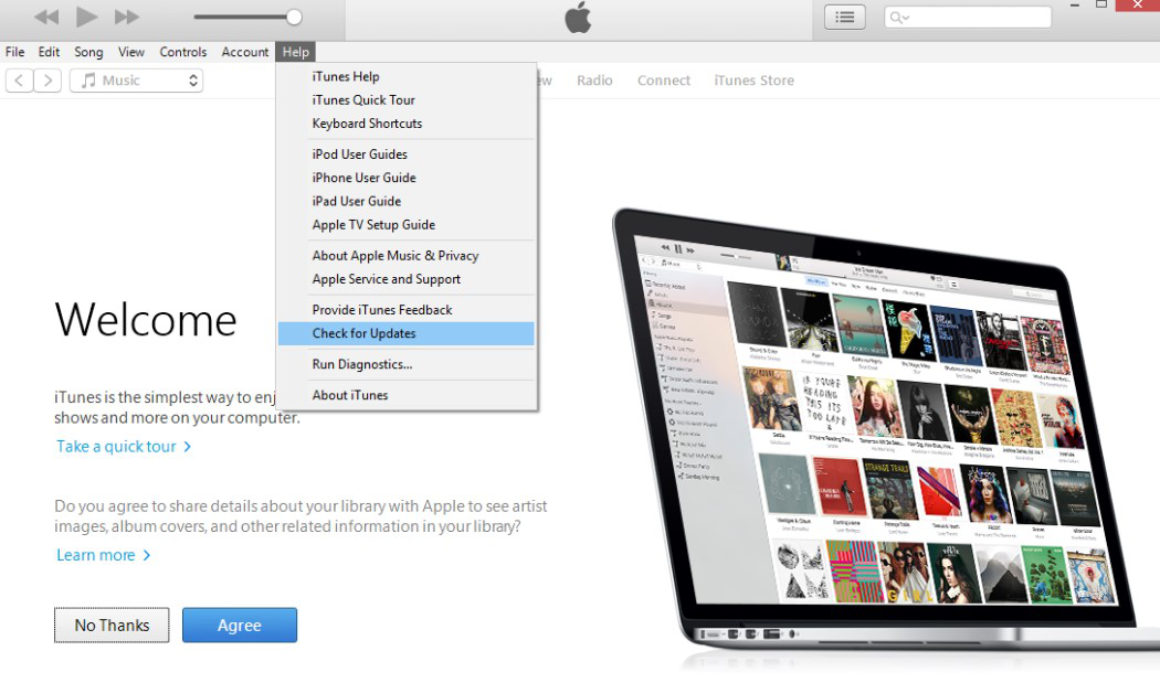 Fix iTunes Error 4013 via Update iTunes on Windows