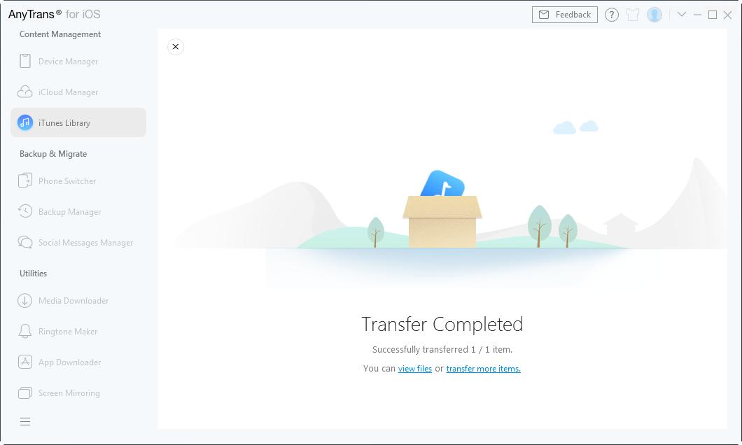 Wait until transferring process complete