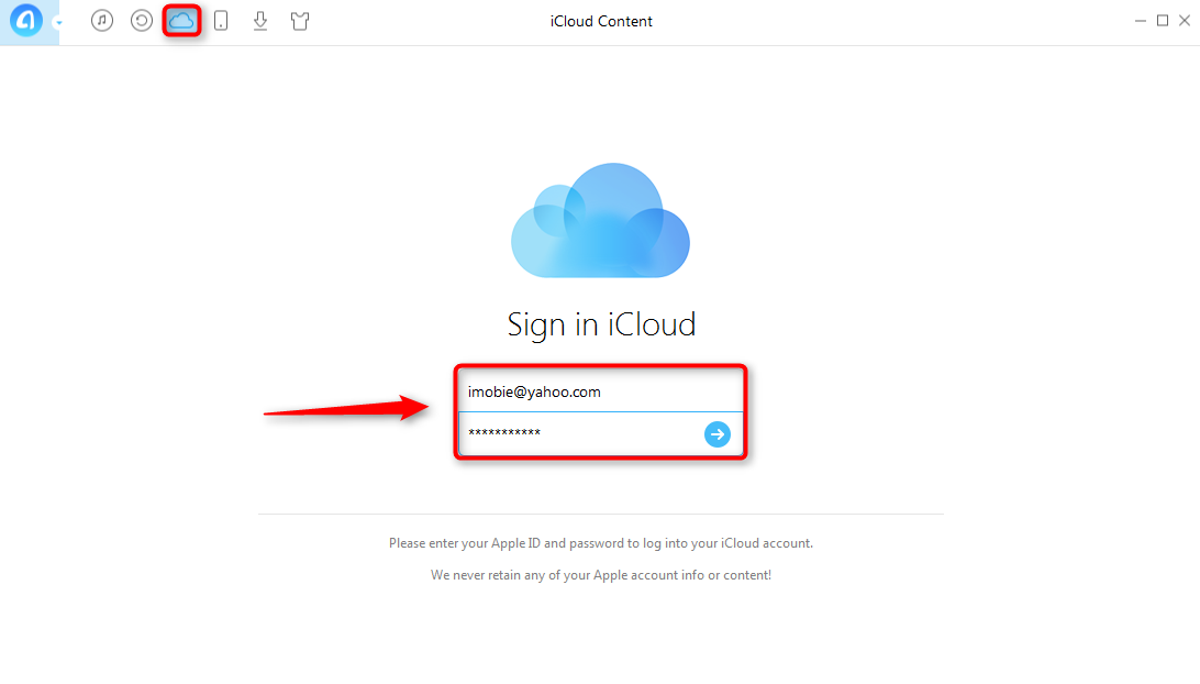 Upload Photos to iCloud with AnyTrans - Step 3