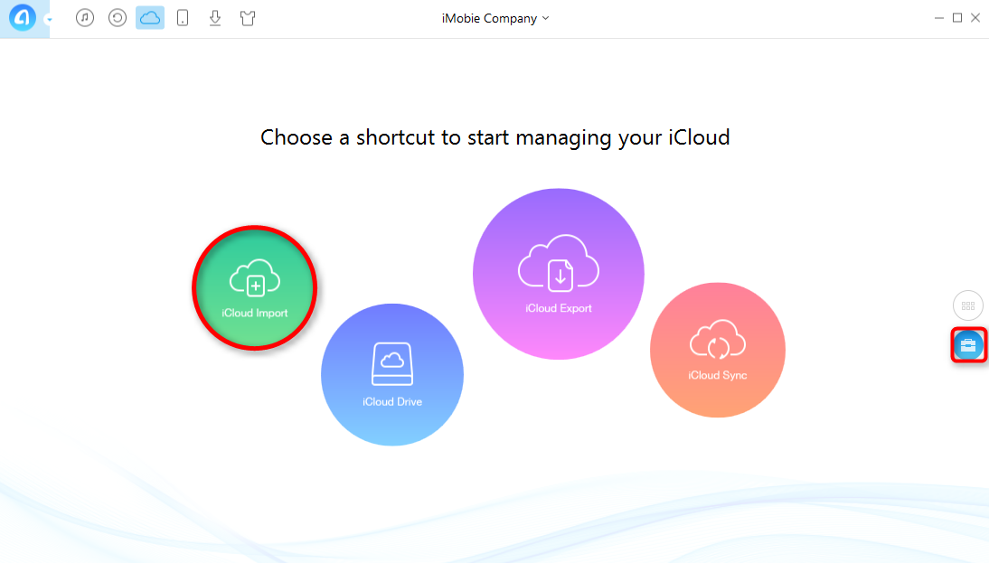 Upload Photos to iCloud with AnyTrans - Step 4