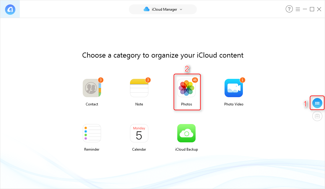 Fix Photos not Downloading from iCloud via AnyTrans for iOS - Step 2