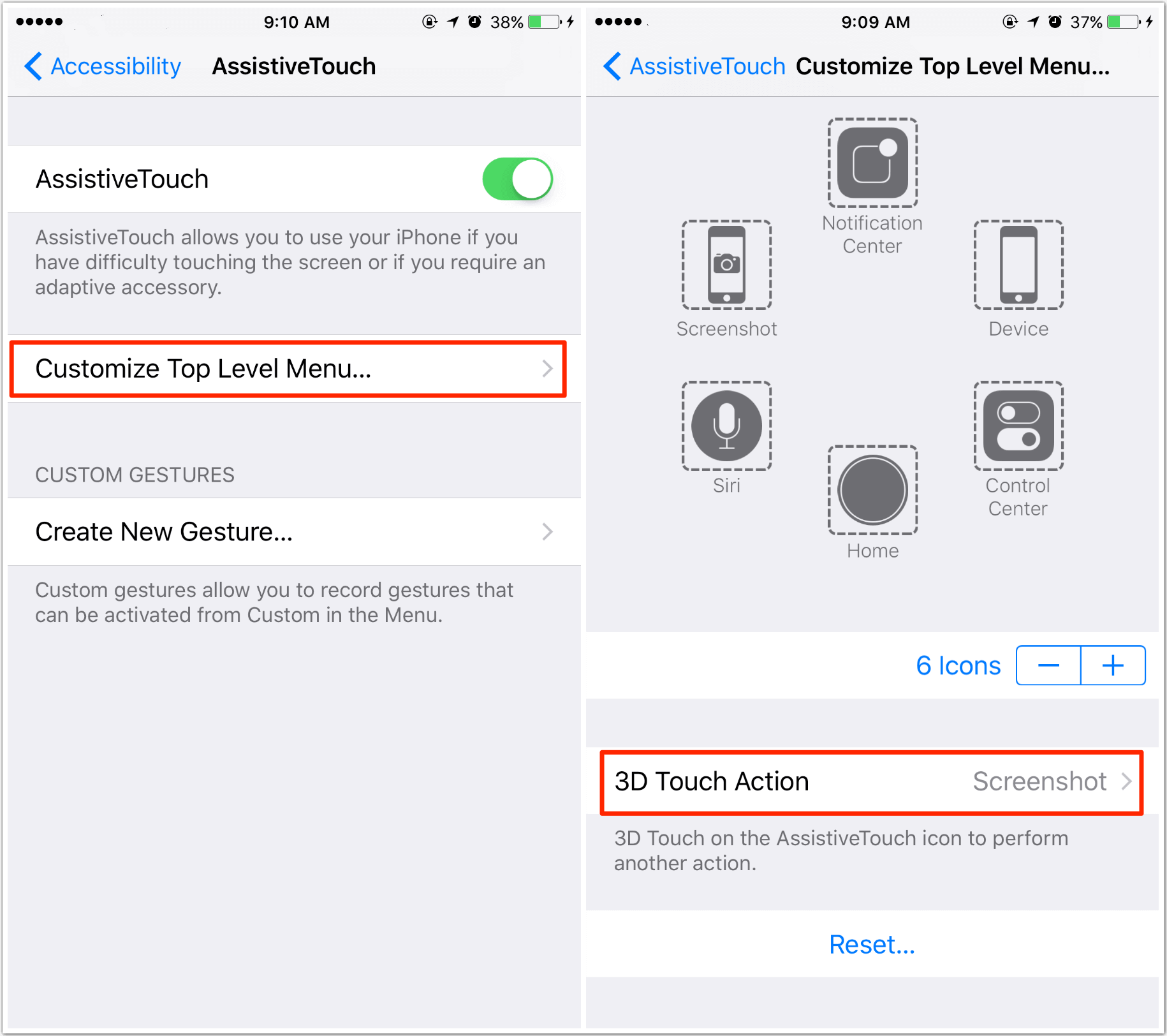 How to Fix iPhone iPad Can't Take Screenshot with 3D Touch Action
