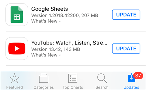Install the latest version of YouTube app