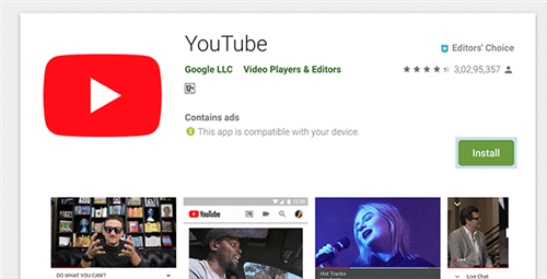 Uninstall and install YouTube app on your device