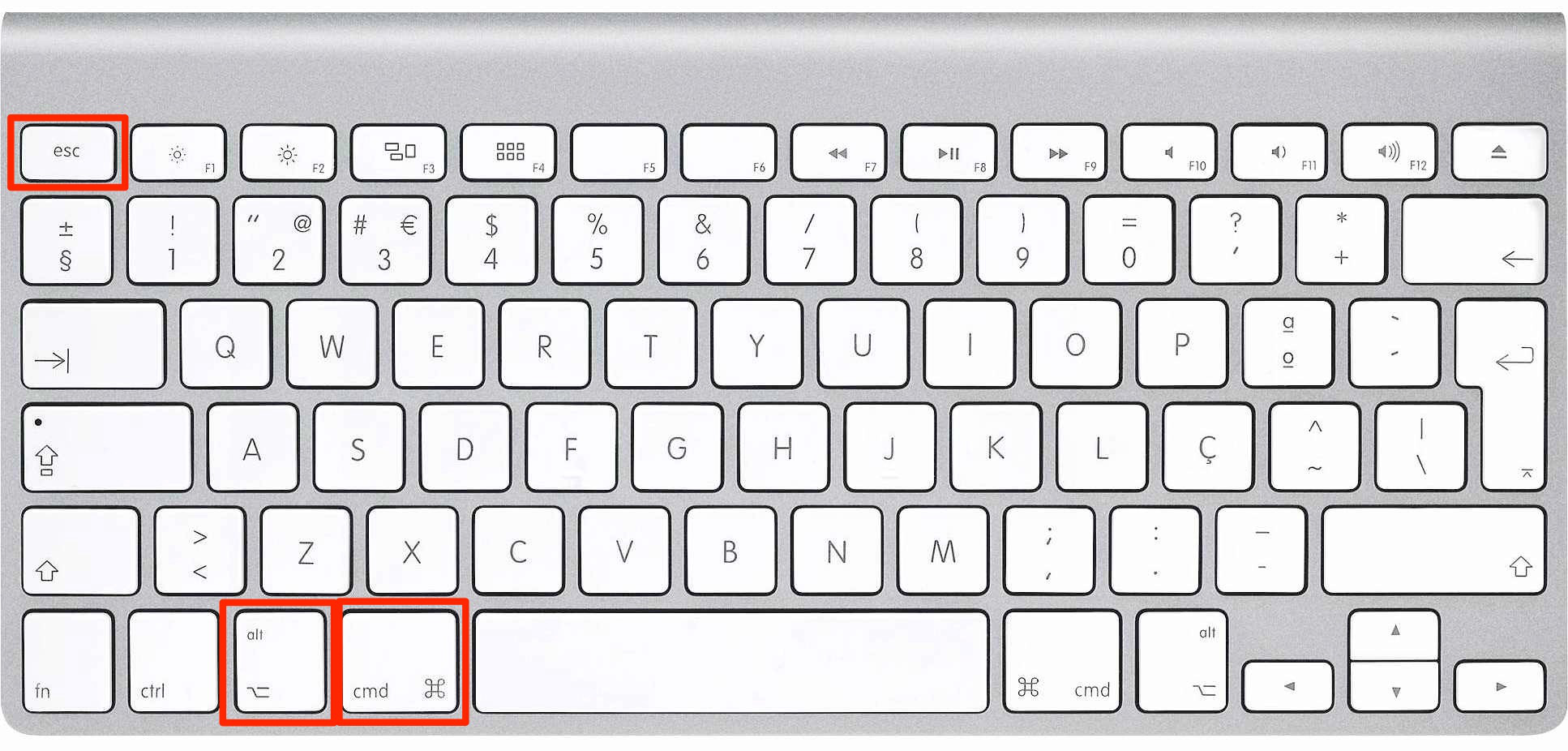 Force Quit with Keyboard Shortcuts – Step 1