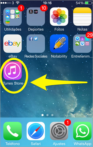 Tap the iTunes store to buy a ringtone – Step 1