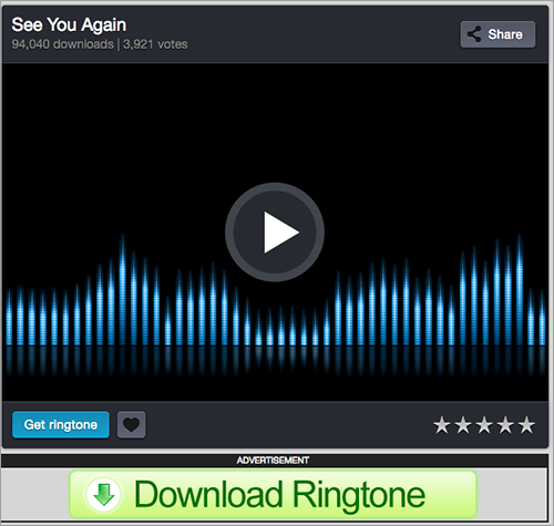 Download ringtone – Step 2