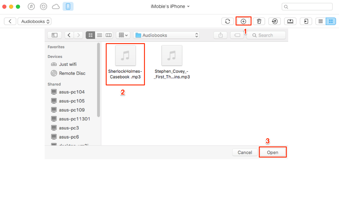 Transfer Audiobooks yo iPhone – Step 3