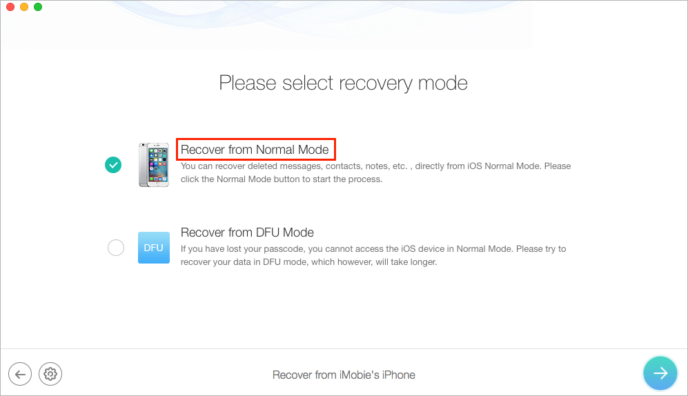 How to Get Back Deleted Voice Memos with PhoneRescue - Step 2