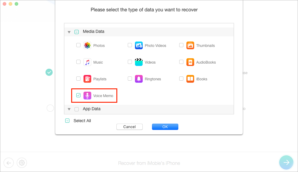 How to Get Back Deleted Voice Memos with PhoneRescue - Step 3