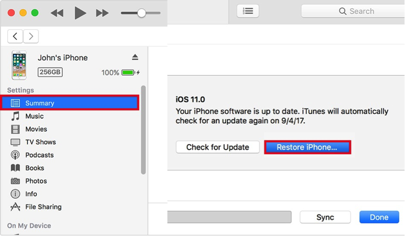 How to Get into a Locked iPhone Without the Password - Restore using iTunes
