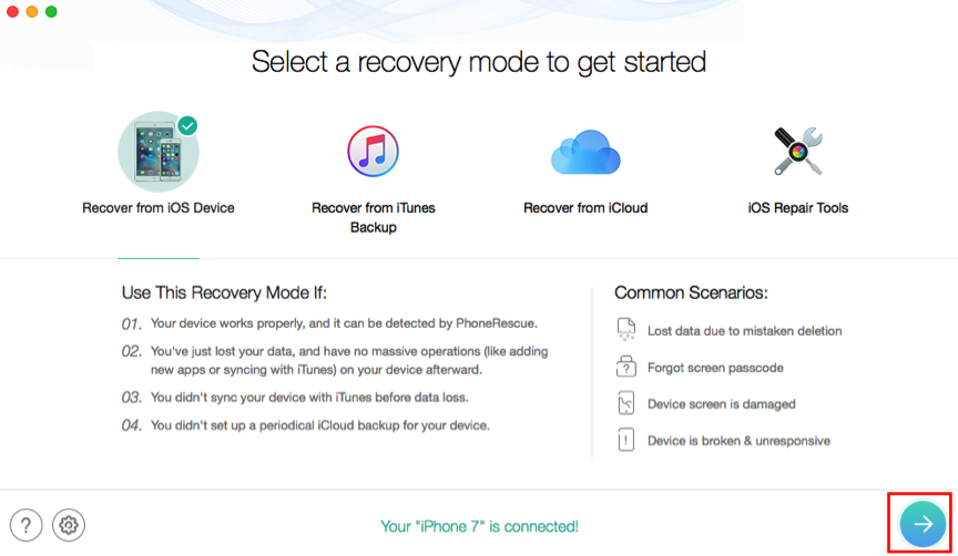 How to Recover Lost Data on iPhone without Backup – Step 1