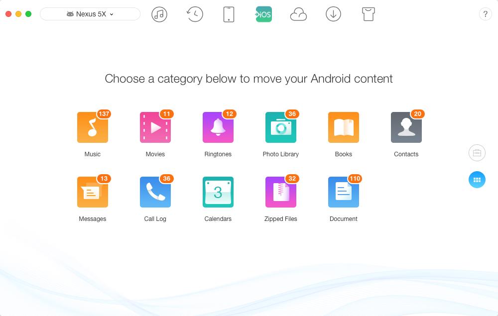 Move to iOS Alternative