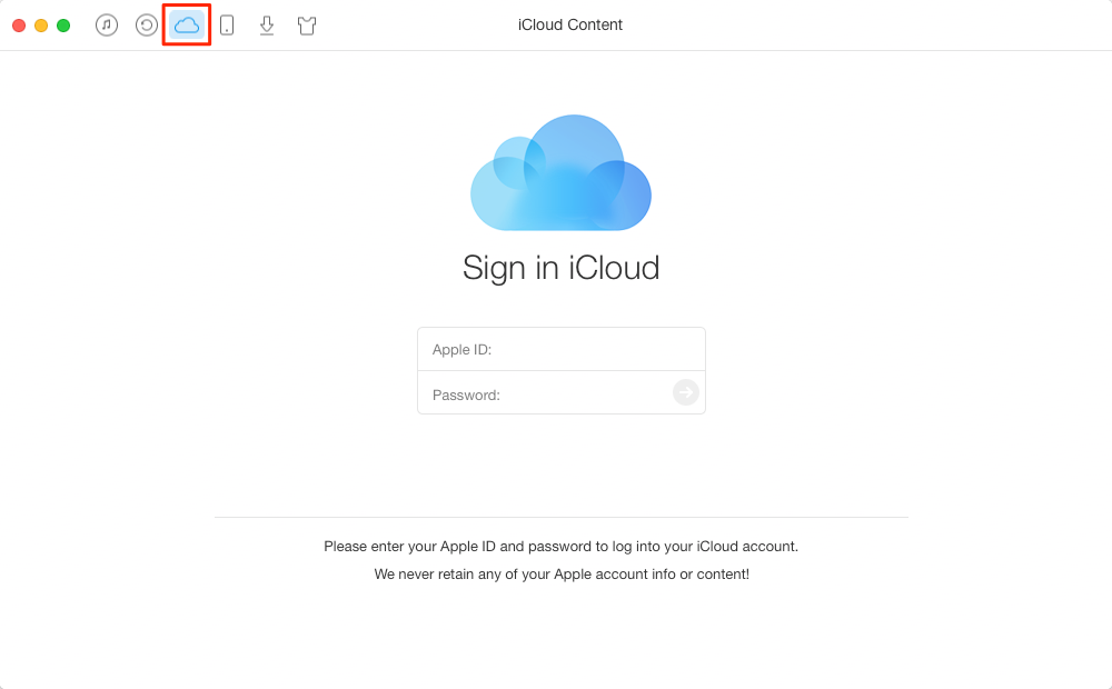 How to Get Notes from iCloud with AnyTrans – Step 1