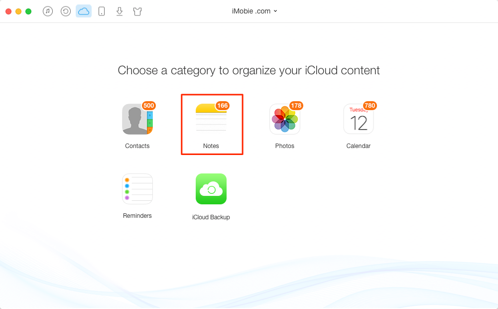 How to Extract Notes from iCloud with AnyTrans – Step 1