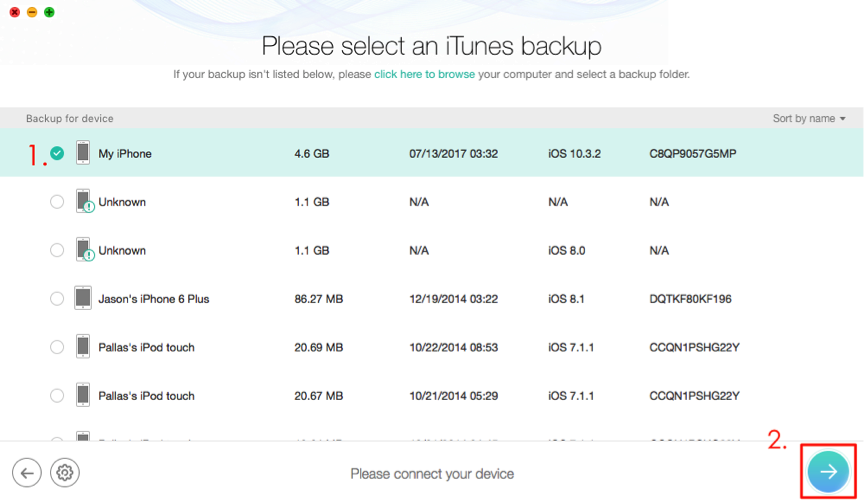 How to Get Old Messages on iPhone from iTunes Backup – Step 2