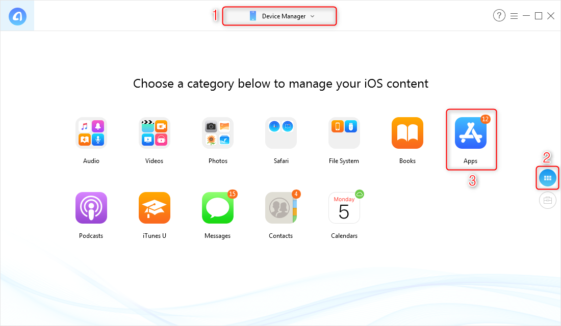 How to Get Older Versions of Apps with AnyTrans for iOS - Step 1
