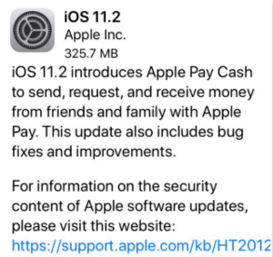 Turn off Maybe iOS 11 – Update to iOS 11.2