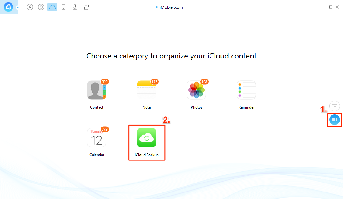 How to Get Videos from iCloud/iCloud Backup with AnyTrans – Step 2