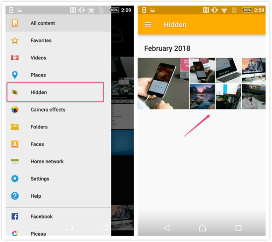 How to Hide Photos on Android - Step 3
