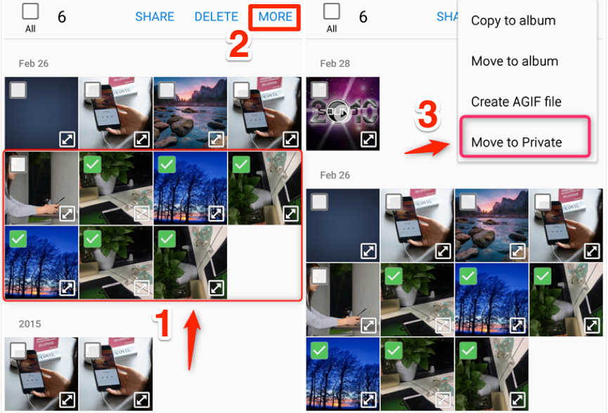 How to Hide Photos on Samsung