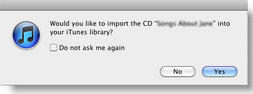 Import CD to iTunes