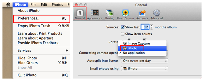 How to Change the Default Setting of iPhoto
