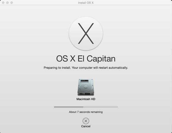 Install El Capitan on Mac