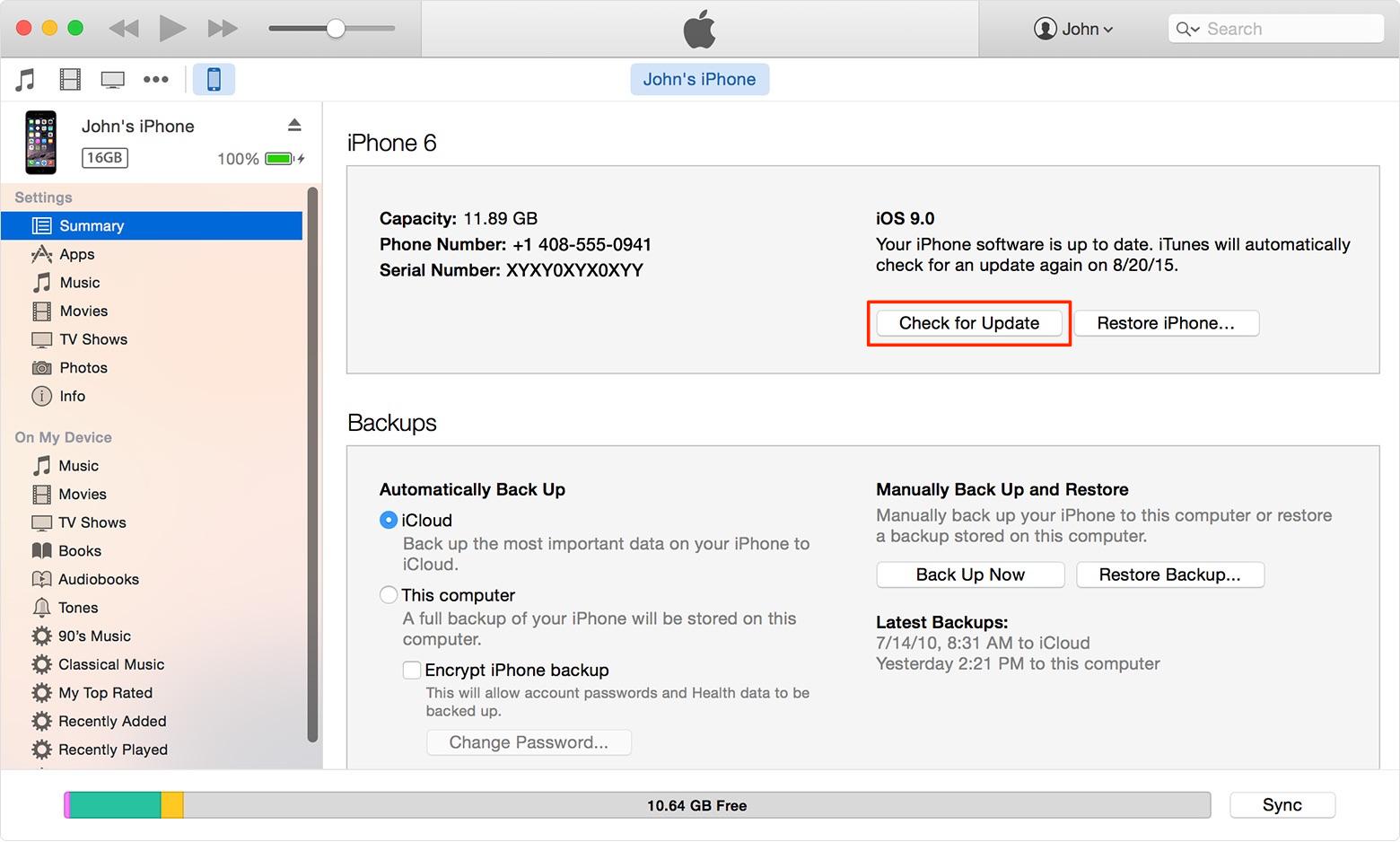 Install iOS 10 on iDevice via iTunes