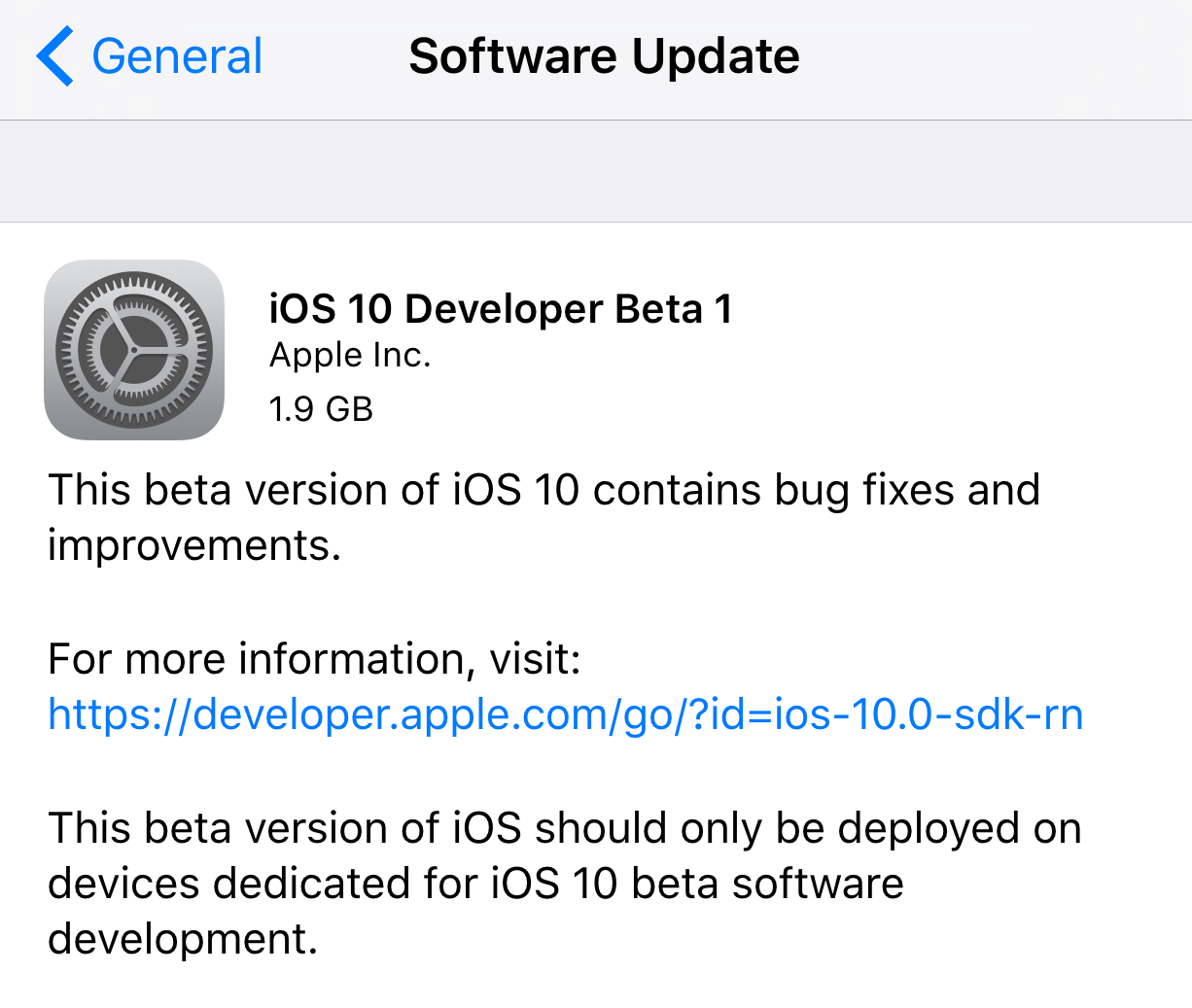 Install iOS 10 on iDevice Over the Air