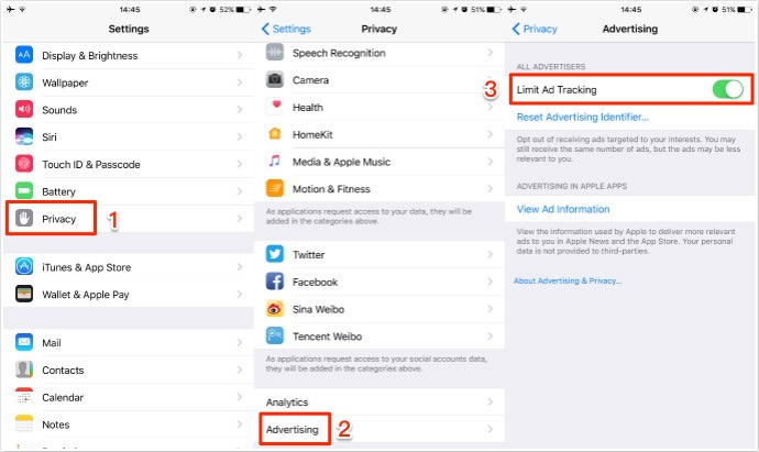 How to Enable Limit Ad Tracking on iPhone/iPad