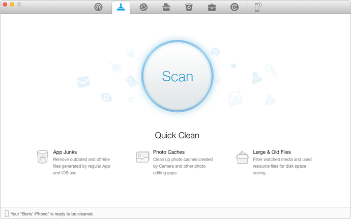 Scan and Clean Junk Files with PhoneClean