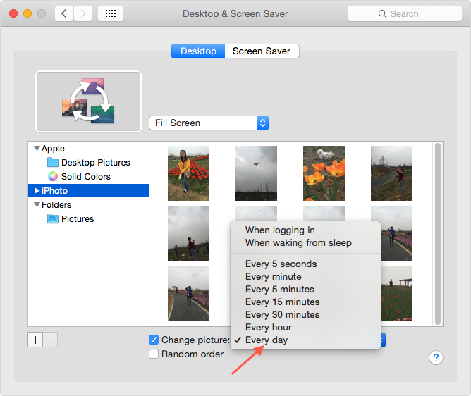 Use Your Photos as Wallpaper on Mac – Step 6