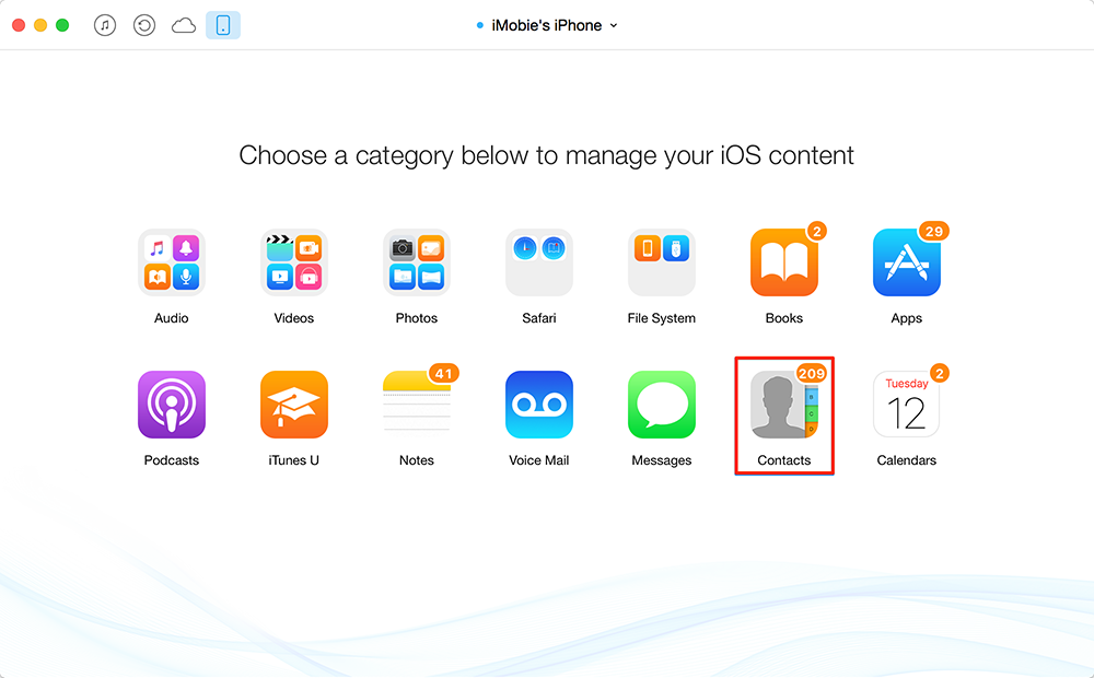 How to Manage iPhone Contacts on computer