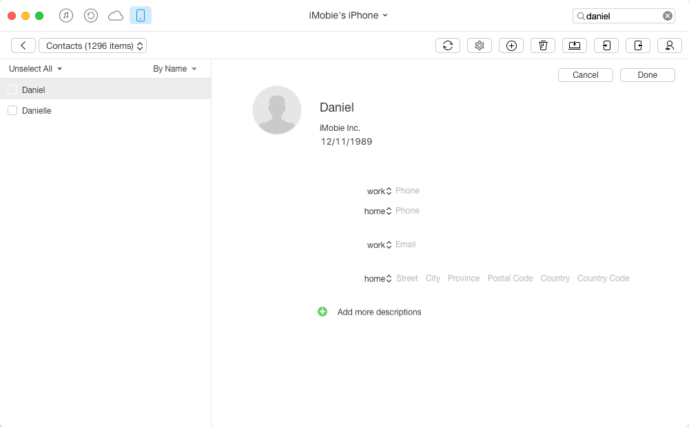 How to edit iPhone contacts on Mac/PC