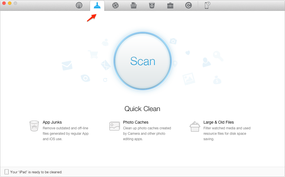 How to Manage Storage on iPad with PhoneClean – Step 1