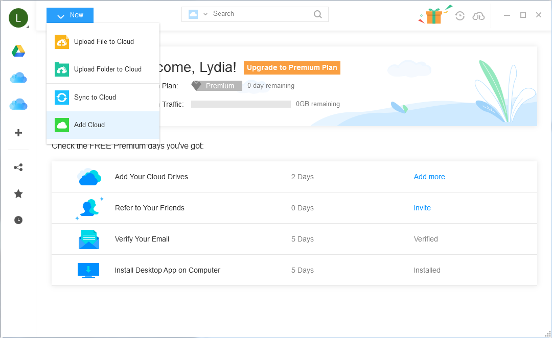 Merge Two Multiple iCloud Accounts via AnyTrans for Cloud – Step 1