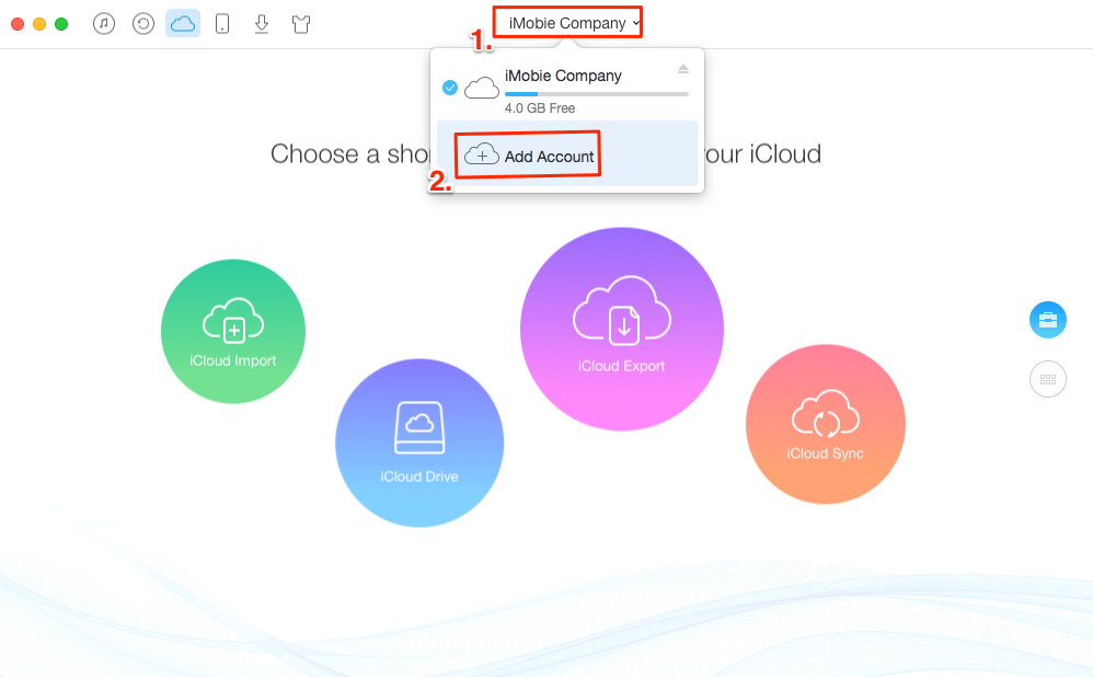 How to Merge Two or Multiple iCloud Accounts with AnyTrans – Step 2